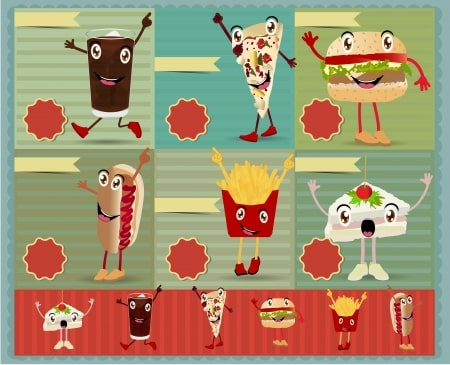 fast-food-cartoon-characters