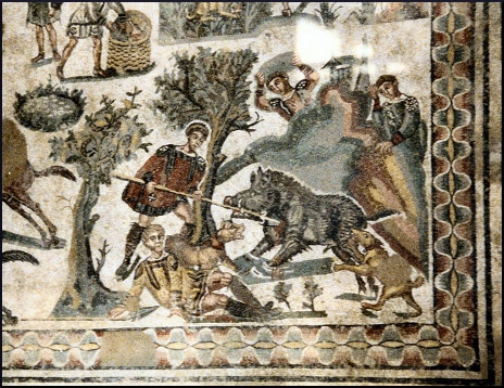 sicily-mosaics-hunting-scene
