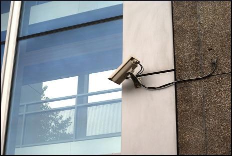 surveillance-camera-mounted-wall