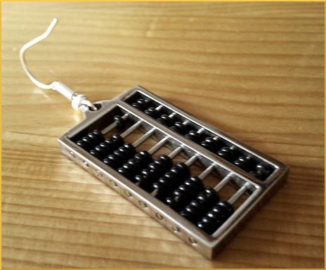 abacus earring