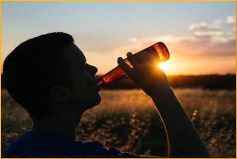drinking-from-bottle-silhoutte