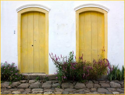 two-yellow-doors