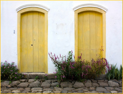 two-yellow-doors