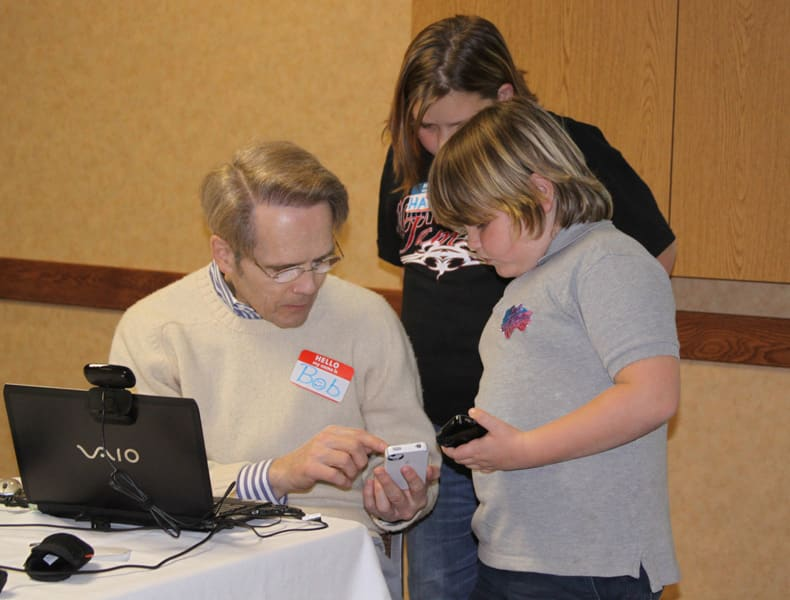 Child Obesity Specialist Dr. Pretlow at the 2010 launching of the W8Loss2Go app in Duluth, MN